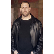 DONNIE WAHLBERG BLUE BLOODS TV SHOW BLACK LEATHER JACKET